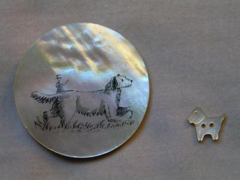 Large Button circa 1810;  Small Button circa 1960